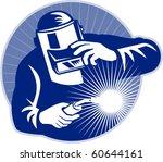 vector illustration of a welder ... | Shutterstock .eps vector #60644161