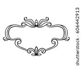 vintage frame | Shutterstock .eps vector #606442913
