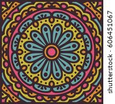 abstract ethnic ornate... | Shutterstock .eps vector #606451067