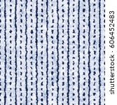 indigo dyed effect striped and... | Shutterstock . vector #606452483