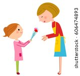 mother's day  parent and child | Shutterstock .eps vector #606474893