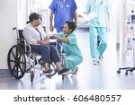 caring african american female... | Shutterstock . vector #606480557