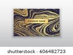 creative modern business cards  ... | Shutterstock .eps vector #606482723