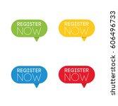 register now. set of business... | Shutterstock . vector #606496733