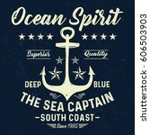 ocean spirit  the sea captain ... | Shutterstock .eps vector #606503903