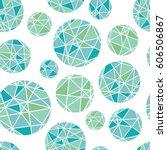 vector blue green geometric... | Shutterstock .eps vector #606506867