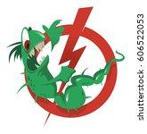 prohibition sign pathogenic... | Shutterstock .eps vector #606522053