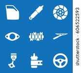 set of 9 part filled icons such ... | Shutterstock .eps vector #606522593