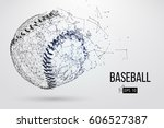 silhouette of a baseball ball.... | Shutterstock .eps vector #606527387