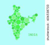 abstract map of india | Shutterstock .eps vector #606538733