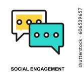social engagement icon | Shutterstock .eps vector #606539657