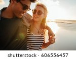 shot of beautiful woman with... | Shutterstock . vector #606556457
