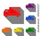 delivery sign illustration. set ...