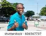 successful african american man ... | Shutterstock . vector #606567737