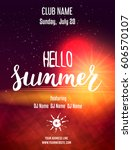 party poster template for... | Shutterstock .eps vector #606570107