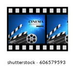 cinema background with movie... | Shutterstock .eps vector #606579593