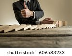 close up view of man in... | Shutterstock . vector #606583283