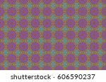 seamless pattern with luxury... | Shutterstock . vector #606590237