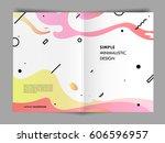 trendy geometric flat pattern ... | Shutterstock .eps vector #606596957