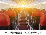 passenger seat  interior of... | Shutterstock . vector #606599423