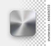 metal blank app icon ... | Shutterstock .eps vector #606606533