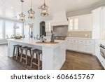 modern new kitchen remodeled... | Shutterstock . vector #606615767