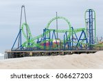 seaside heights  new jersey  ... | Shutterstock . vector #606627203