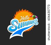 summer logo  summer time  enjoy ... | Shutterstock .eps vector #606630773