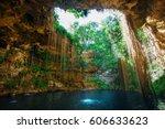 sunbeams penetrating at ik kil... | Shutterstock . vector #606633623