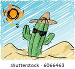 Illustration Of A Cool Cactus ...