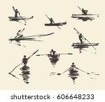 set of illustrations of a man... | Shutterstock .eps vector #606648233