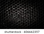 black and white honeycomb in... | Shutterstock . vector #606662357