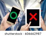 banning electronic devices in... | Shutterstock . vector #606662987