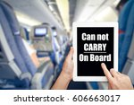 banning electronic devices in... | Shutterstock . vector #606663017