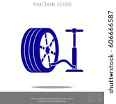 pump and tire vector icon | Shutterstock .eps vector #606666587
