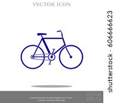 bicycle vector icon | Shutterstock .eps vector #606666623