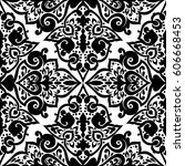 seamless abstract ornate pattern | Shutterstock .eps vector #606668453