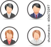 people icons collection vector | Shutterstock .eps vector #606673397