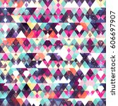 triangle seamless pattern.... | Shutterstock .eps vector #606697907