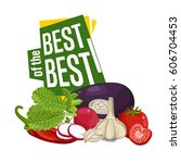 best discount poster with fresh ... | Shutterstock .eps vector #606704453