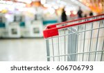 empty shopping cart in the... | Shutterstock . vector #606706793