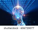 digital code number abstract... | Shutterstock . vector #606720077