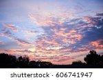 sweet sky  sunset sky | Shutterstock . vector #606741947