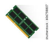 random access memory concept by ... | Shutterstock .eps vector #606758807