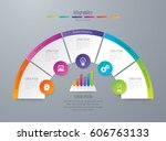 infographics design vector and... | Shutterstock .eps vector #606763133