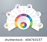 infographics design vector and... | Shutterstock .eps vector #606763157