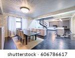 russia moscow   modern living... | Shutterstock . vector #606786617