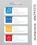 info graphic template for... | Shutterstock .eps vector #606797273