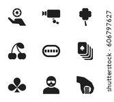 set of 9 editable game icons....