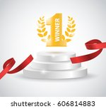 winner background with red... | Shutterstock .eps vector #606814883